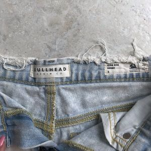 Bullhead Shorts - BULLHEAD HIGH RISE ACID WASH SHORTS